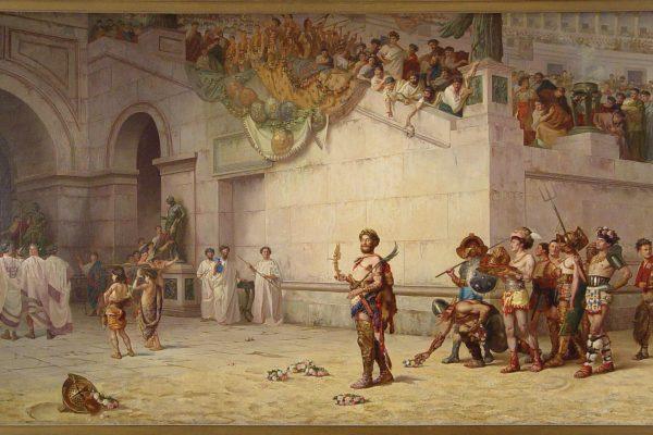 Commodus Leaving the Coliseum. Edwin Blashfield. 1878