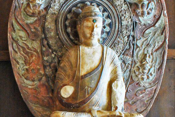 Monumental marble figure of Buddha. China