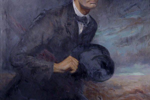 Abe Lincoln Breasting the Winds. Douglas Volk. 1926